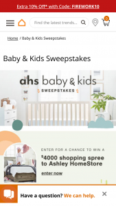 Ashley Furniture – Ahs Baby & Kids – Win $4000 in Ashley HomeStore product