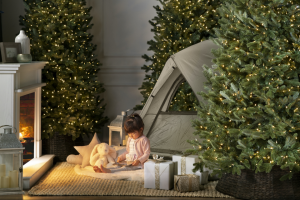 Balsam Hill – Annual Summer Secret Santa Giveaway – Win Hill will award two Red Spruce Slim 6'5 LED CLEAR one for the winner and one for their nominee (Total ARV $1198).