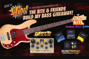 Bass Musician Magazine – Bite & Friends Build My Bass Giveaway – Win a prize package including BITE Custom Bass Build your very own bass using the BITE Custom Bass Configurator