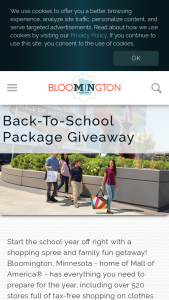Bloomington Convention & Visitor's Bureau – 2021 Back-To-School Giveaway – Win $500.00 USD Mall of America Gift Card Only valid at participating stores restaurants and attractions located in Mall of America