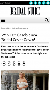 Bridal Guide – September/october Cover Gown Sweepstakes