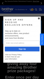 Brother International – Ground-Breaking Innovation Sweepstakes