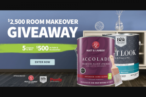 Do It Best – $2500 Room Makeover Giveaway – Win for any reason or c) has violated therulesof the giveaway