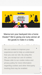 Duraflame – Backyard Movie Night Giveaway – Win one (1) outdoor movie screen