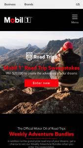 Exxon Mobil 1 – Road Trip – Win a road trip package