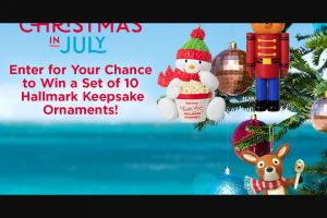 Hallmark Channel – Countdown To Christmas Keepsake Ornament Giveaway Sweepstakes