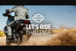 Harley-Davidson – Let's Ride Challenge Summer 2021 Sweepstakes