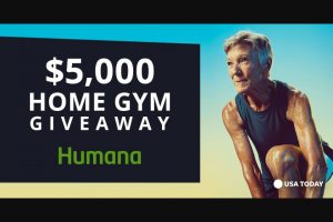 Humana – $5000 Home Gym Giveaway – Win a $5000 Dick's Sporting Goods gift card