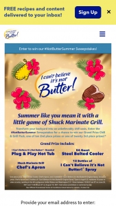 I Can't Believe It's Not Butter – Not Butter Summer Sweepstakes