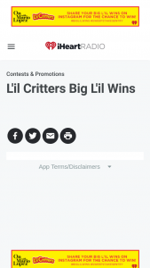 Iheart – L'il Critters L'il Wins Sweepstakes