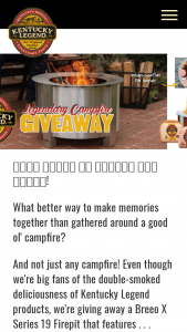 Kentucky Legend – Legendary Campfire Giveaway – Win of the calendar year and a copy of such form will be filed with the IRS