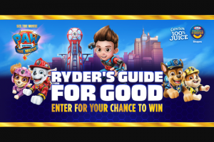 Kraft Heinz Foods – Ryder's Guide For Good – Win one (1) one-year Paramount subscription