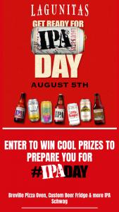 Lagunitas – Ipa Day – Win Breville pizza oven