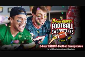 Living Essentials – 5-hour Energy Football – Win $10000 to be awarded in the form of a check