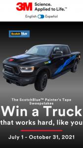 3m Company – Scotchblue Painter's Tape – Win RAM 1500 REBEL TRUCK