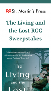 """Macmillan – The Living And The Lost Rgg – Win a(n) One (1) ARC of THE LIVING AND THE LOST by Ellen Feldman. The approximate retail value (""""ARV"""") of the Grand Prize is $17.99 USD"""