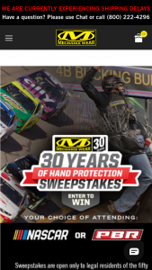 """Mechanix Wear – 30 Years Of Hand Protection – Win choose from either the NASCAR® Experience prize or the PBR Experience prize described below (each the """"Grand Prize"""")  (1) NASCAR® Experience Grand Prize"""