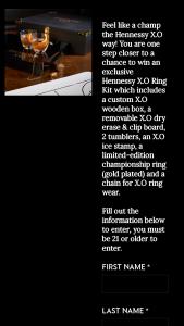 Moet Hennessy – Hennessy Xo Ring Kit – Win a Hennessy XO Ring Kit ARV $1000 each