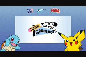 Mondelez Global – Gear Up For Greatness Sweepstakes