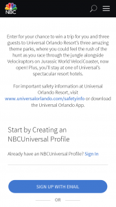 """NBC Entertainment – Summer 2021 Trip Giveaway – Win There will be one (1) prize awarded (""""Prize"""") to Winner"""