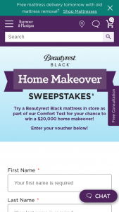 Raymour & Flanigan – Beautyrest Black Home Makeover – Win is one (1) Grand Prize available to be won