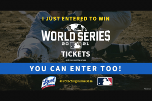 """Reckitt Benckiser – Lysol Protecting Home Base – Win the following """"Grand Prize Trip"""" which includes two tickets"""