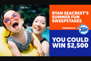 """Ryan Seacrest – Summer Fun – Win One (1) check in the amount of two thousand five hundred dollars ($2500.00) made payable to the Winner (Approximate Retail Value (""""ARV"""") $2500.00)."""