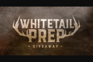 Shoot-On – Whitetail Pres Giveaway Sweepstakes