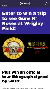 Siriusxm – Guns N' Roses Sweepstakes