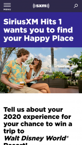 Siriusxm – Hits 1 Wants You To Find Your Happy Place Contest – Subscribers Sweepstakes