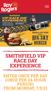 Smithfield – Vip Race Day Experience Sweepstakes