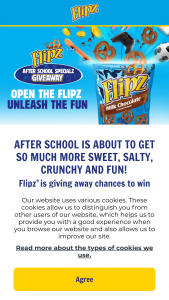 Star Brands North America – Flipz After School Specialz Instant Win Game & Sweepstakes