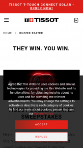 Swatch Tissot – Buzzer Beater Sweepstakes