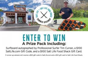 The Salt Life & Salt Life Food Shack – Summer Surf  – Win Up Prize Packages