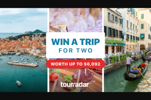Tourradar – Win A Tour For 2 – Win seats on one of these amazing tours worth up to $6092.