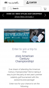 Travis Mathew – American Century Championship Giveaway Sweepstakes