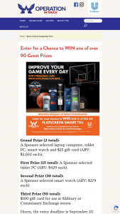 Unilever – 2021 Back To School – Win total) A Sponsor-selected laptop computer tablet PC smart watch and $25 gift card (ARV $2032 each).