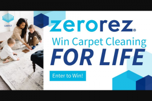 USA Today – Carpeting Cleaning For Life – Win – A $300 credit will be awarded twice a year to the winner for as long as they own their home