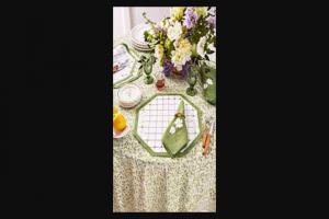 Veranda – Elizabeth Lake Linens – Win one set of four napkins and four placemats by Elizabeth Lake