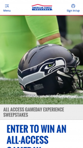 American Family Mutual Insurance – Seattle Seahawks All-Access Gameday Experience Sweepstakes