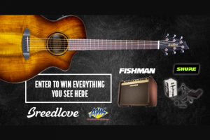 American Musical Supply – Breedlove Pursuit Exotic S Giveaway With Fishman And Shure Sweepstakes