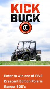 Apex Tool Group – Crescent Kick Buck Sweepstakes