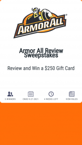 Armor All – Review – Win one $250 VISA Gift Card