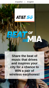 AT&T – Beat Of My Miami And Houston – Win in Texas one pair of wireless headphones with Bluetooth® capability comes with wireless charging case