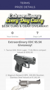 Brand Avalanche – Extraordinary Edc Giveaway Sweepstakes