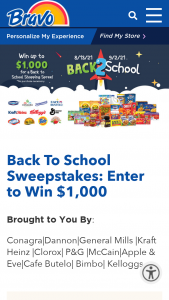 Bravo Supermarkets – Back To School Sweepstakes