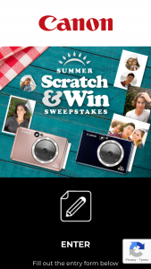 Canon – Summer Scratch & Win Instant Win Sweepstakes