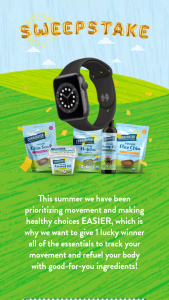 Carrington Farms – 2021 – Win WINNER) Prize package including (1) Apple Watch Series 6 (8) Carrington Farms Products