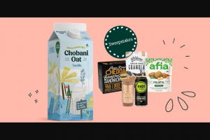 Chobani – Super Snackin' – Win one (1) case (6 8oz bags) of Wildway coconut cashew grain-free granola
