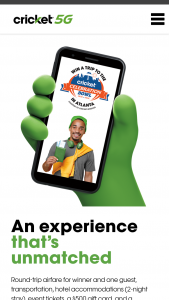 Cricket Wireless – 2021 Celebration Bowl Flyaway – Win the Grand Prize consists of a trip for the Grand Prize winner and one (1) guest to attend the 2021 Celebration Bowl event scheduled to take place in Atlanta GA on December 18 2021.